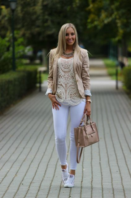 blazer com tênis
