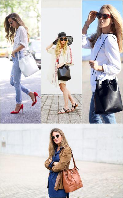 exemplo de modelo de bolsa saco de couro