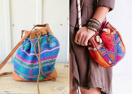 exemplo de modelo de bolsa saco étnica