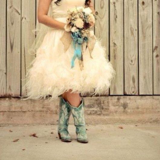 usar bota country feminina em casamento