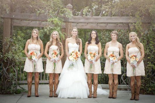 bota country feminina em casamentos