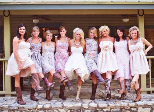 bota country feminina para noivas