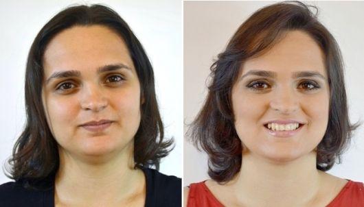 cabelo repicado para gordinhas antes e depois