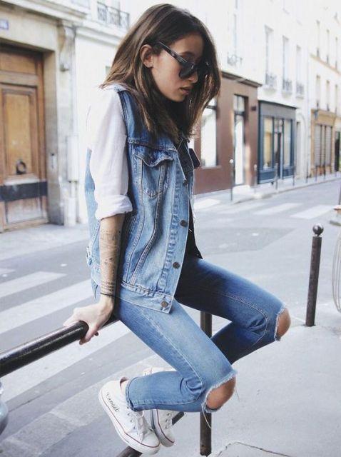 exemplo de calça destroyed jeans tradicional