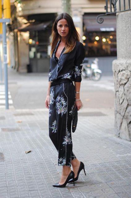 calça pijama conjuntinho