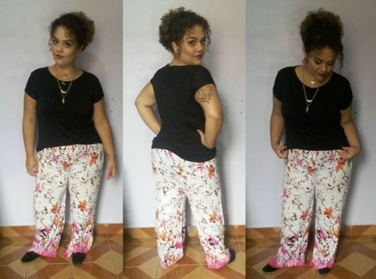 calça pijama plus size tecido fluido
