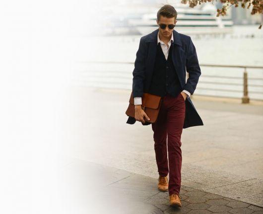 Calça colorida + blazer