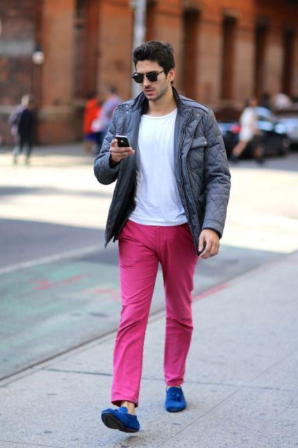 calça colorida masculina