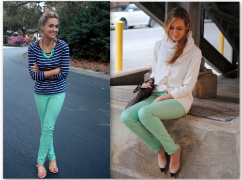 calças verdes