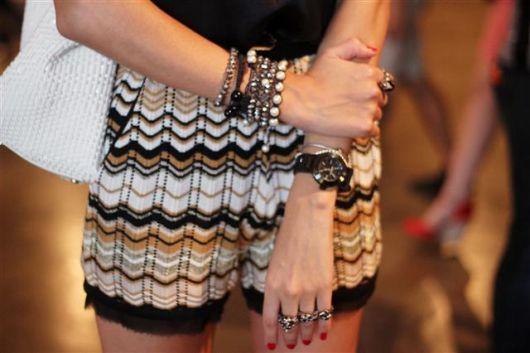 mix de pulseiras simples