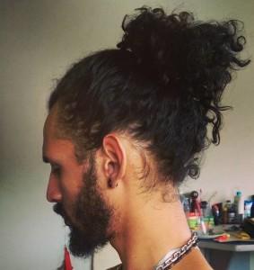 coque no cabelo crespo