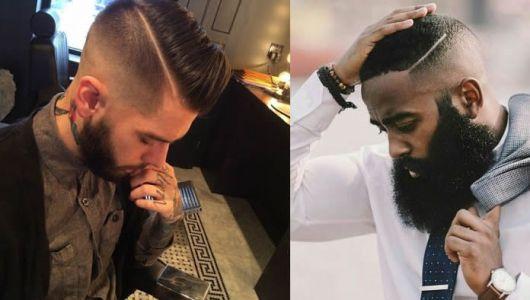 degradê crespo e com barba