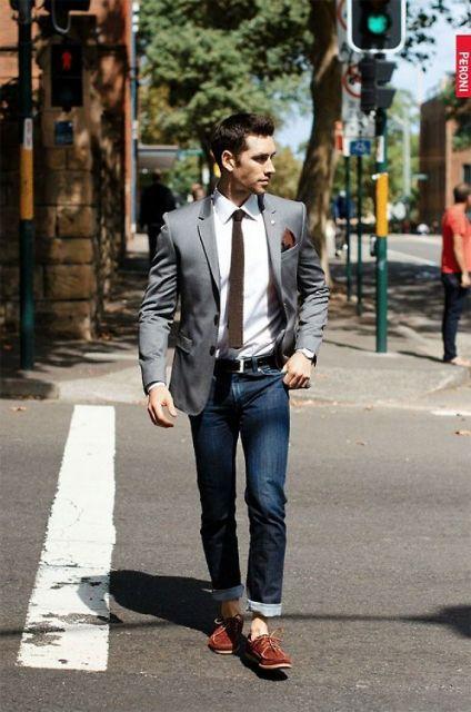 dockside masculino com terno e gravata
