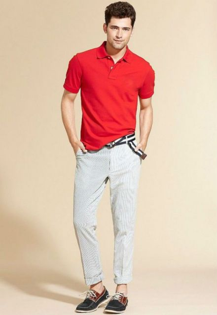 dockside masculino e camisa polo