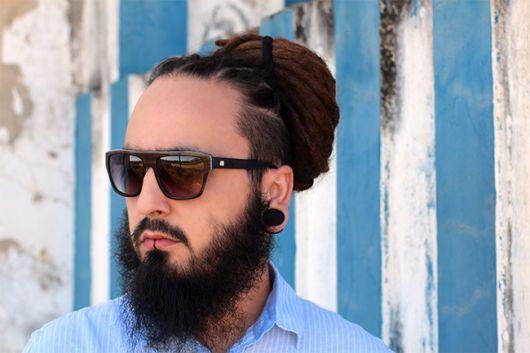 dread fino com barba