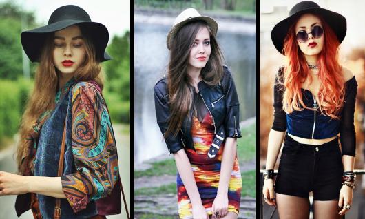 estilo hipster chapéu