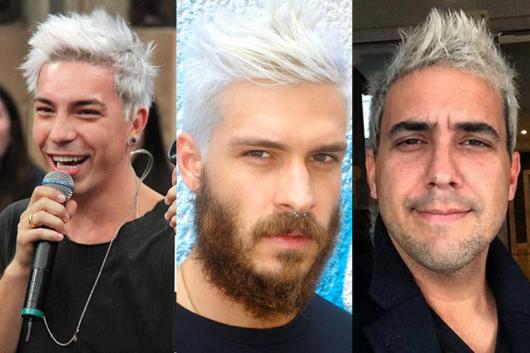 famosos cabelo platinado