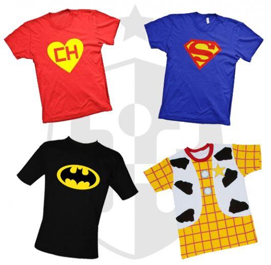 fantasia com camiseta super heroi