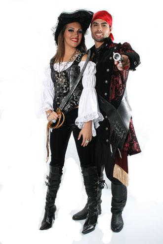 fantasia de pirata casal