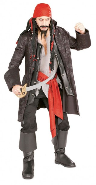 fantasia de pirata masculino improvisada