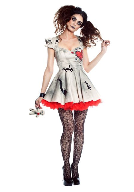 fantasia feminina boneca vudu