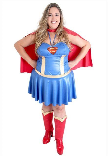 fantasia feminina super heroi