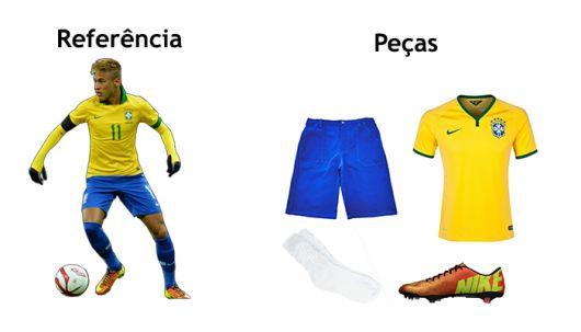 fantasia jogador de futebol