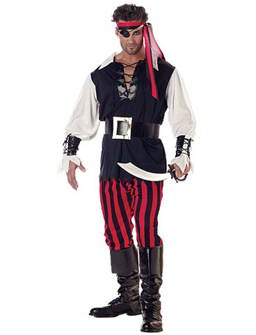 fantasia masculina pirata luxo