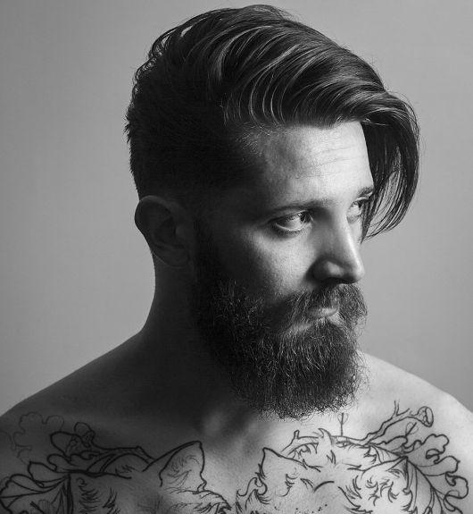 franja undercut e barba