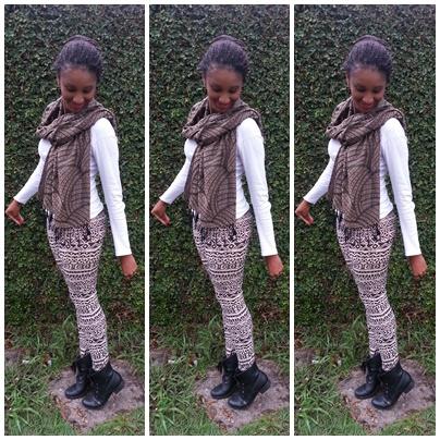 moda étnica na legging estampada
