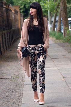 legging estampada estilo floral