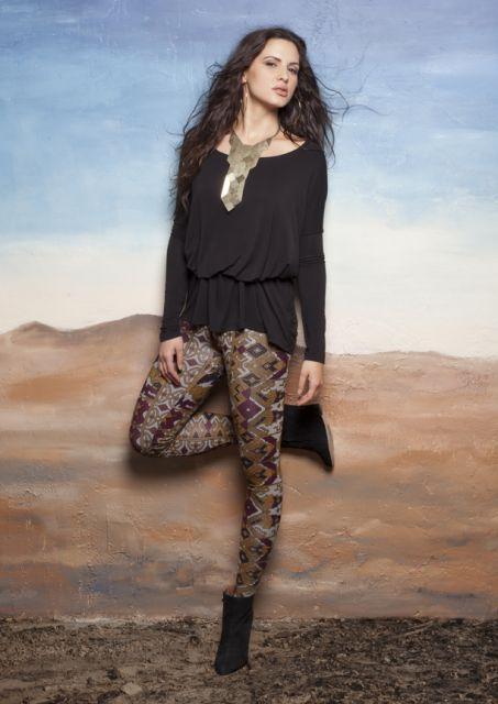 legging estampada moda étnica
