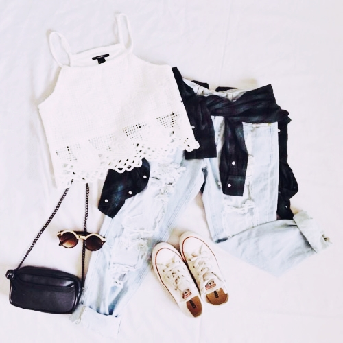 exemplo de looks com calça jeans