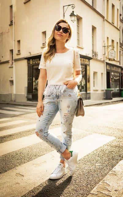 exemplo de looks com calça jeans despojado