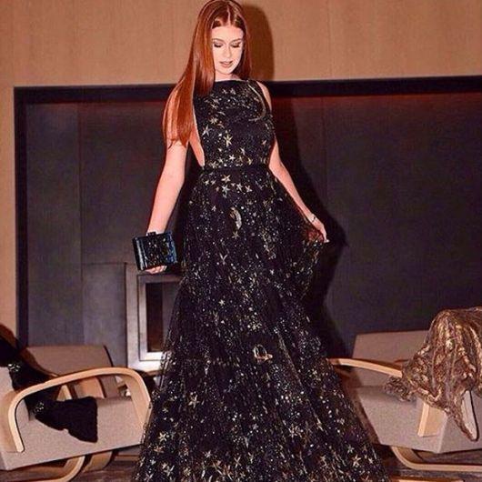 looks da Marina Ruy Barbosa com longo preto