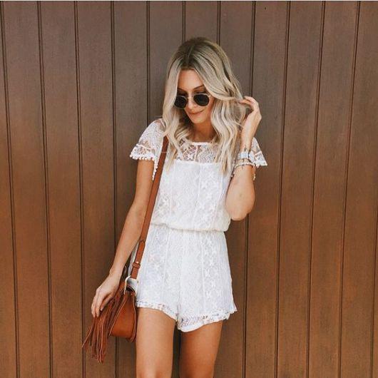 Bolsa De Renda Branca : Macaquinho de renda dicas e fotos modelos lindos