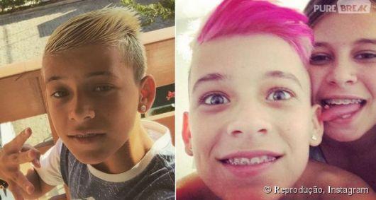 mc pedrinho cabelo rosa