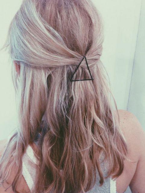 penteado com grampos