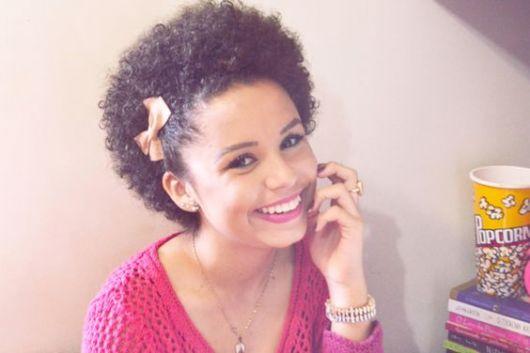 penteado afro com laço