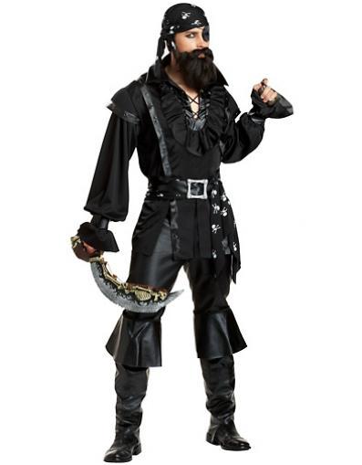 pirata negro fantasia