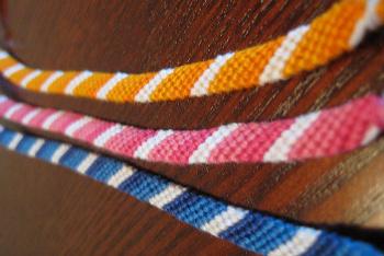 pulseira macrame colorida