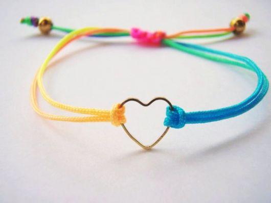 pulseira com coração