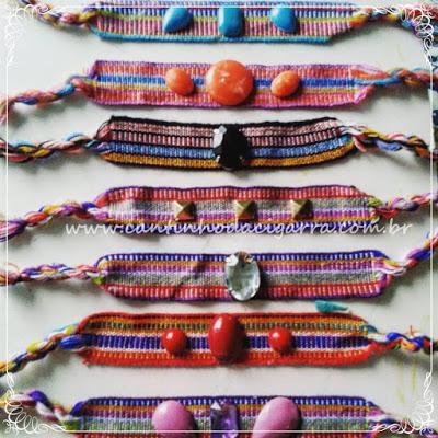pulseiras da moda com pedras