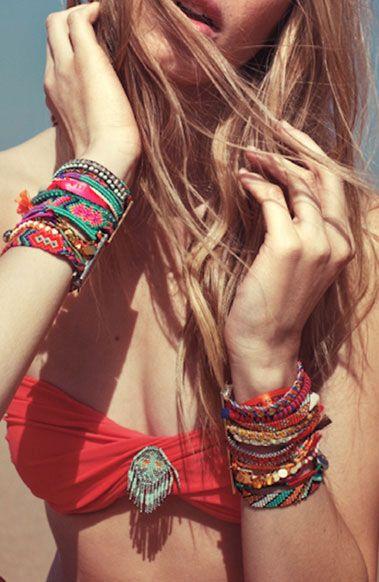pulseiras da moda de tecido