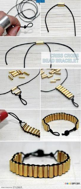 pulseiras da moda douradas