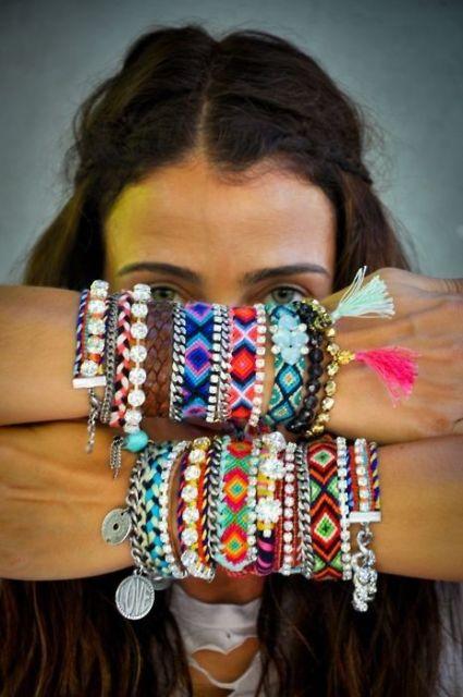 pulseiras da moda hippie