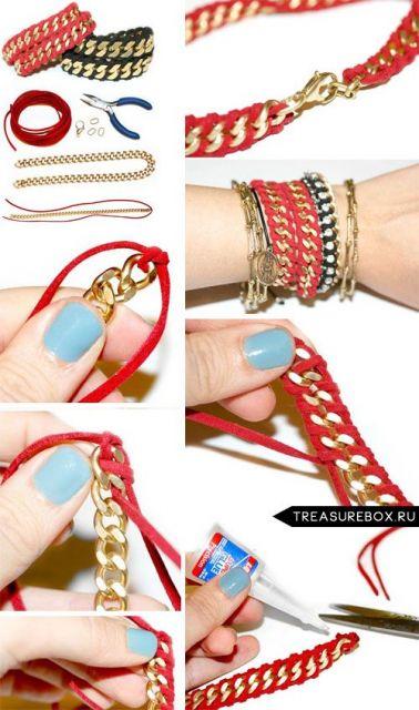 pulseiras da moda macramê
