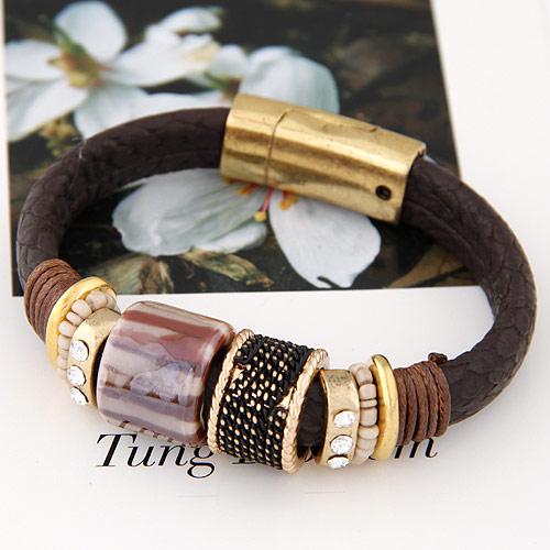 pulseiras da moda metal e couro