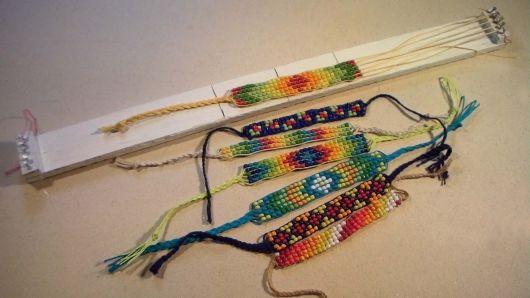 pulseiras da moda miçangas coloridas