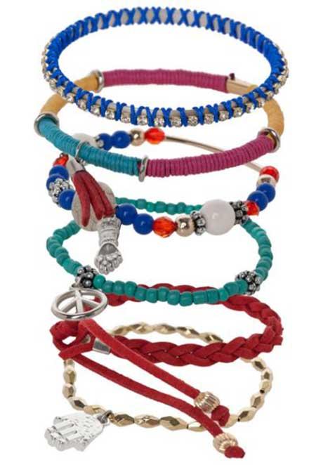 pulseiras da moda miçangas com pingente